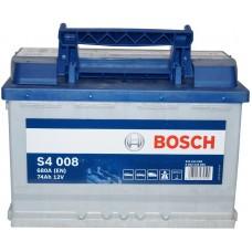 Автомобильный аккумулятор Bosch 6СТ-74 R+ S4 008