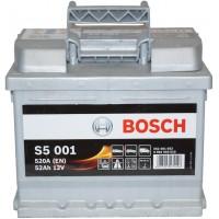 Автомобильный аккумулятор Bosch 6СТ-52 R+ S5 001