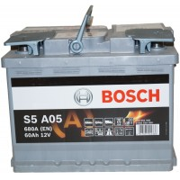 Автомобильный аккумулятор Bosch AGM 6СТ-60 R+ S5A 050