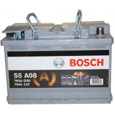 Автомобильный аккумулятор Bosch AGM 6СТ-70 R+ S5A 080