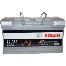 Автомобильный аккумулятор Bosch AGM 6СТ-95 R+ S5A 130