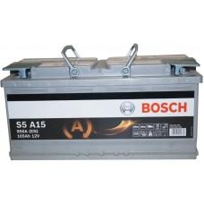 Автомобильный аккумулятор Bosch AGM 6СТ-105 R+ S5A 150