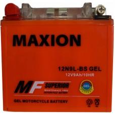 Мото аккумулятор Maxion 12N9L-BS Gel