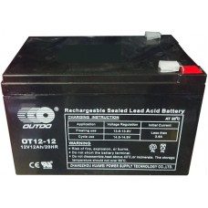 Промышленный аккумулятор Outdo 6СТ-12 12V