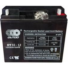 Промышленный аккумулятор Outdo 6СТ-55 12V