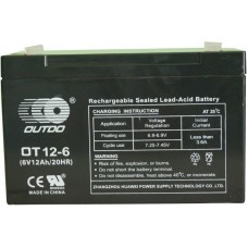Промышленный аккумулятор Outdo 3СТ-12 6V