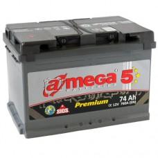 Автомобильный аккумулятор A-Mega 6СТ-74 L+ Premium 5