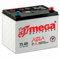Автомобильный аккумулятор A-Mega 6СТ-75 R+ Asia