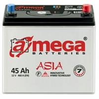 Автомобильный аккумулятор A-Mega 6СТ-45 R+ Asia