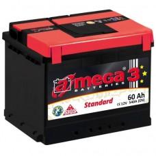 Автомобильный аккумулятор A-Mega 6СТ-60 R+ Standart 3