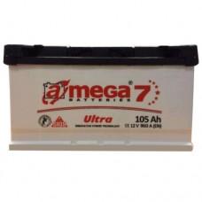 Автомобильный аккумулятор A-Mega 6СТ-105 R+ Ultra 7