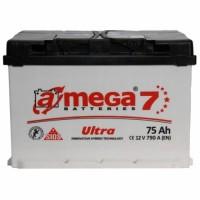 Автомобильный аккумулятор A-Mega 6СТ-75 L+ Ultra 7