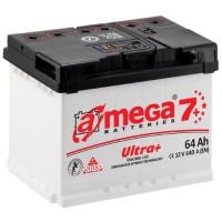 Автомобильный аккумулятор A-Mega 6СТ-64 R+ Ultra Plus 7+