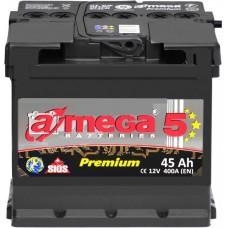 Автомобильный аккумулятор A-Mega 6СТ-45 R+ Premium 5