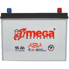 Автомобильный аккумулятор A-Mega 6СТ-95 R+ Asia
