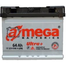 Автомобильный аккумулятор A-Mega 6СТ-64 L+ Ultra Plus 7+