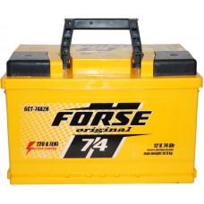 Автомобильный аккумулятор Forse 6СТ-74 R+ Original