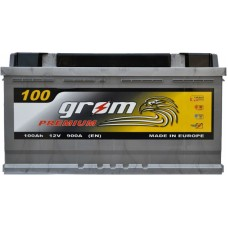 Автомобильный аккумулятор Grom 6СТ-100R+ Premium