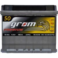 Автомобильный аккумулятор Grom 6СТ-50 L+ Premium