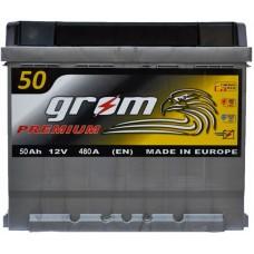 Автомобильный аккумулятор Grom 6СТ-50 R+ Premium
