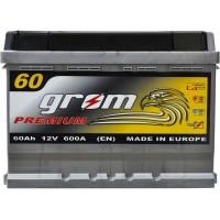 Автомобильный аккумулятор Grom 6СТ-60 R+ Premium