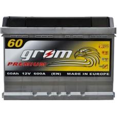 Автомобильный аккумулятор Grom 6СТ-60L+ Premium