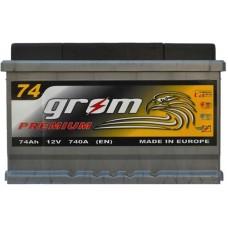 Автомобильный аккумулятор Grom 6СТ-74R+ Premium