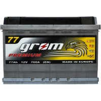 Автомобильный аккумулятор Grom 6СТ-77R+ Premium