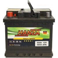 Автомобильный аккумулятор Hanza 6СТ-50 L+ Gold