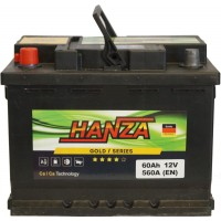 Автомобильный аккумулятор Hanza 6СТ-60 L+ Gold
