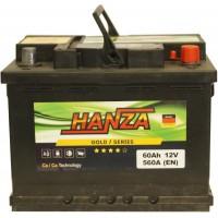Автомобильный аккумулятор Hanza 6СТ-60 R+ Gold