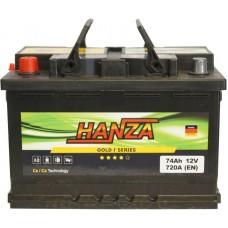 Автомобильный аккумулятор Hanza 6СТ-74 L+ Gold