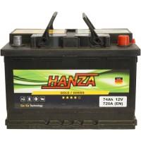 Автомобильный аккумулятор Hanza 6СТ-74 R+ Gold