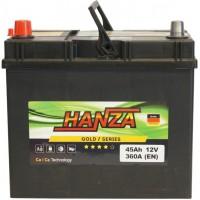 Автомобильный аккумулятор Hanza 6СТ-45 L+ Jis Gold