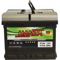 Автомобильный аккумулятор Hanza 6СТ-51 R+ Platinum