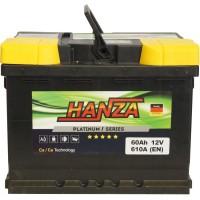 Автомобильный аккумулятор Hanza 6СТ-60 R+ Platinum
