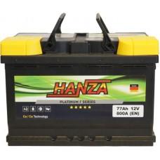 Автомобильный аккумулятор Hanza 6СТ-77 R+ Platinum