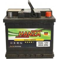 Автомобильный аккумулятор Hanza 6СТ-50 R+ Gold