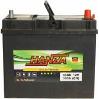 Автомобильный аккумулятор Hanza 6СТ-45 R+ Jis Gold