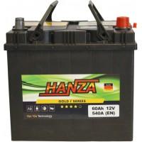 Автомобильный аккумулятор Hanza 6СТ-60 R+ Jis Gold