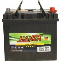 Автомобильный аккумулятор Hanza 6СТ-65 R+ Jis Gold