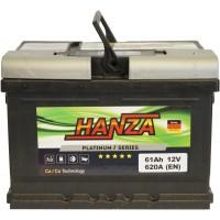 Автомобильный аккумулятор Hanza 6СТ-61 R+ Platinum