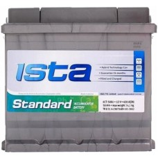 Автомобильный аккумулятор Ista 6СТ-50 L+ Standard