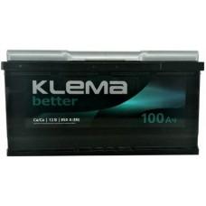 Автомобильный аккумулятор Klema 6СТ-100 R+