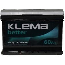 Автомобильный аккумулятор Klema 6СТ-60 R+