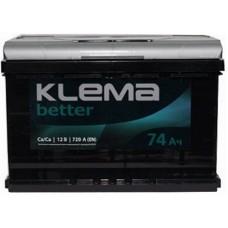 Автомобильный аккумулятор Klema 6СТ-74 R+