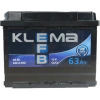 Автомобильный аккумулятор Klema EFB 6СТ-63 R+