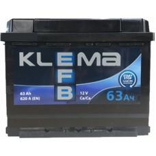Автомобильный аккумулятор Klema EFB 6СТ-63 L+