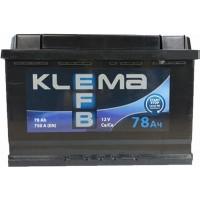 Автомобильный аккумулятор Klema EFB 6СТ-78 R+