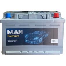 Автомобильный аккумулятор MAN 6СТ-75 R+ Premium